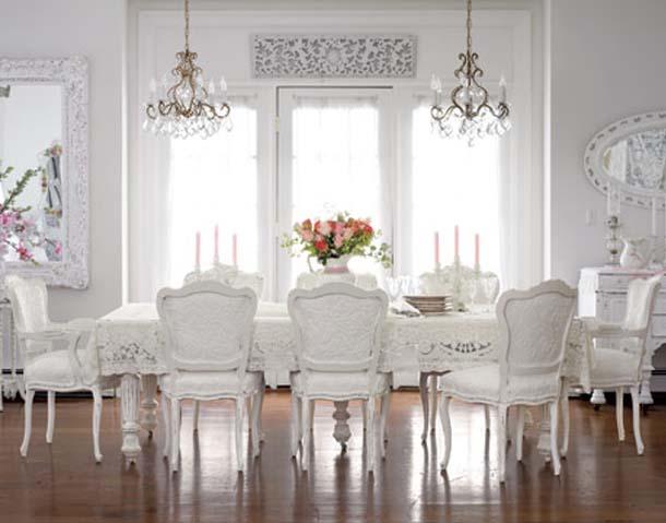 beyaz yemek odası modelleri