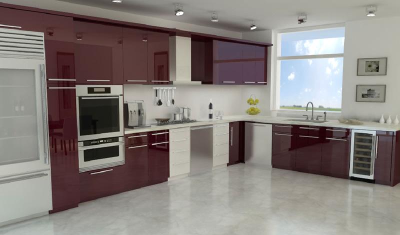 2015 bordo mutfak dolabı modelleri
