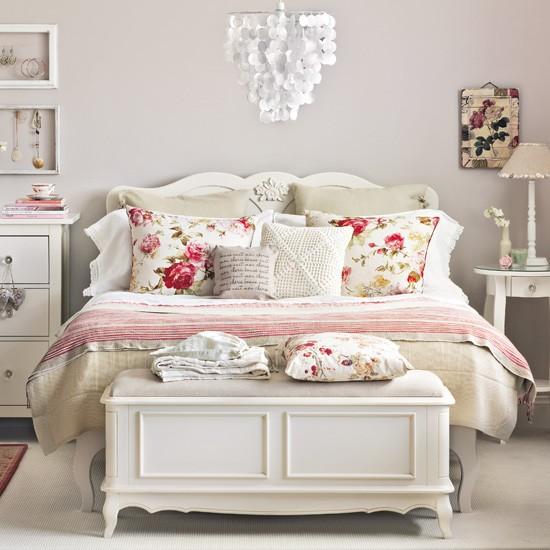 Vintage yatak odası stilleri